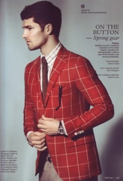 menofhabit :     Serious color on this Ferragamo sportcoat in this month's issue of Monocle.     great jacket!