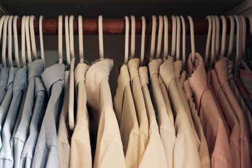 my closet is like this too :)