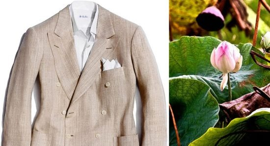 thestylebuff :     Loro Piana Lotus Flower. SS Jacket made with lotus flower fiber. Limited editions.     this is  awesome !