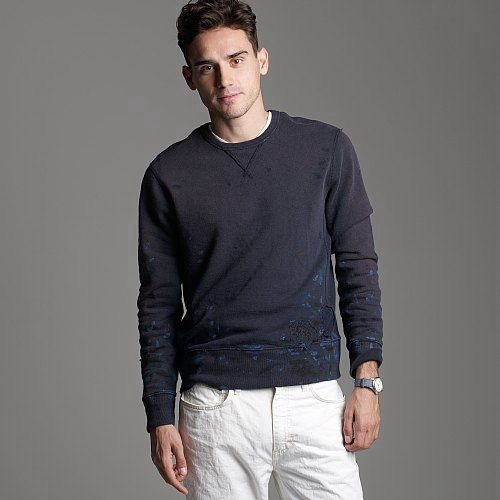 evolutionofagentleman :     J. Crew destroyed sweatshirt $98.00     want.