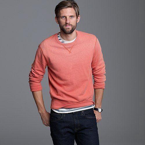 evolutionofagentleman :     J. Crew sun faded crew neck sweatshirt. $69.00..     want.