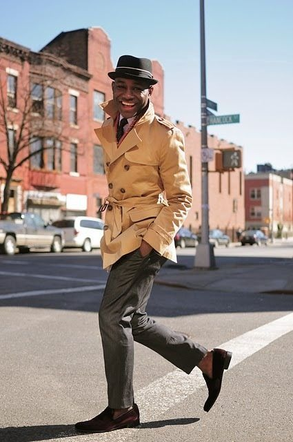 moderndistinction :     That trench is perfect for right now as we make the change in seasons, and this guy knows how to wear the hell out of it.     diggin this.