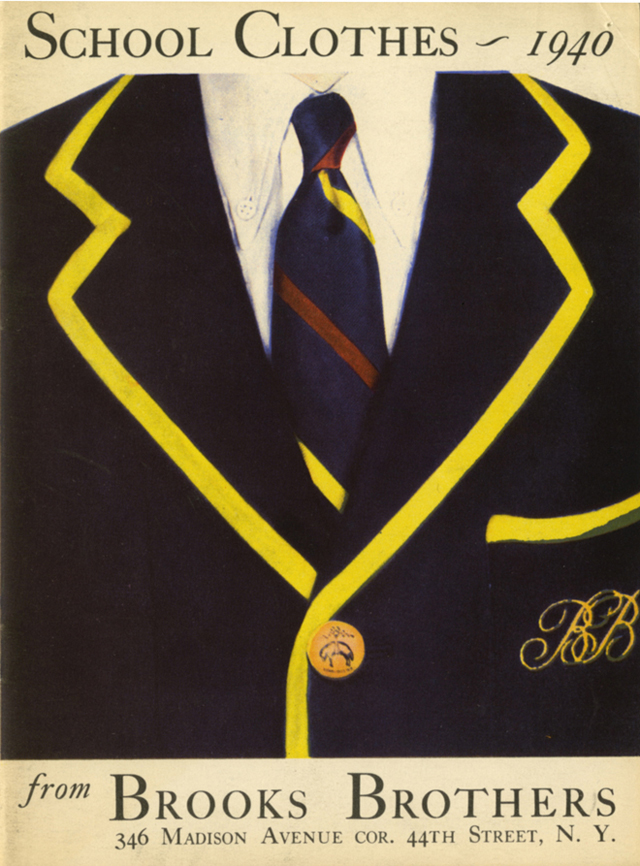 todaystie :     Brooks Brothers 1940