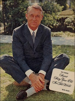 todaystie :      putthison :     Cary Grant at 60.