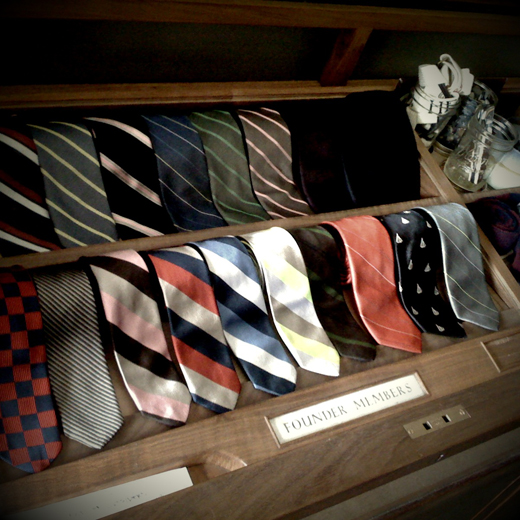 one man can never have too many ties…