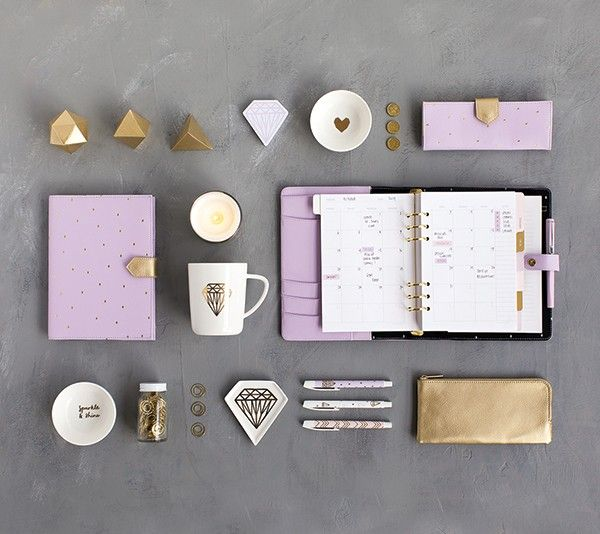 (image from Kikki K Lilac & Gold Collection)