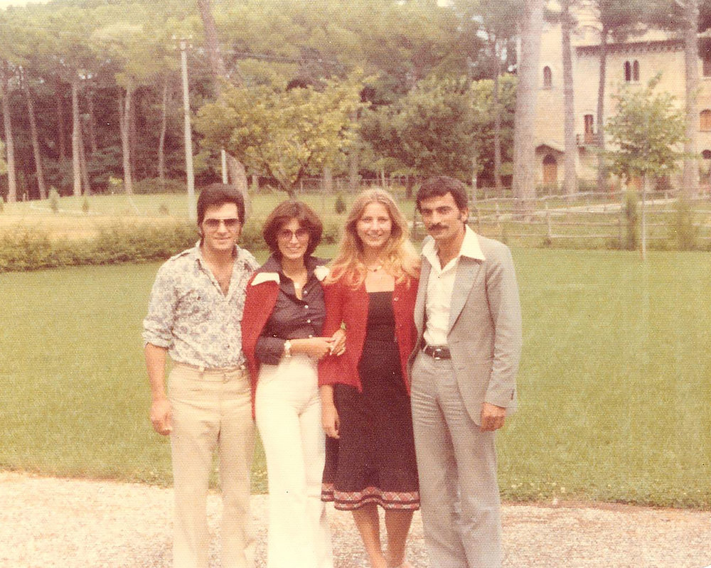 from left to right:  my dad Ghaleb, my mom Daniela, my aunt Alessandra, my uncle Munir in the 70s