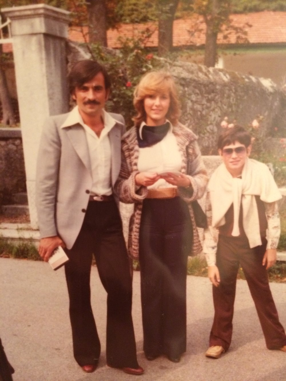 My uncle, and aunt and cousin 70s