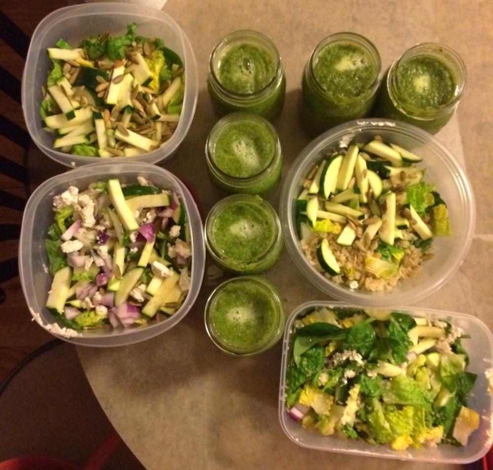 Salad prep montage