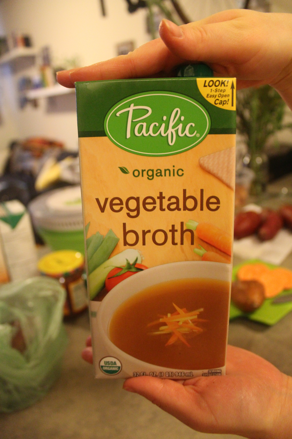Measure 1/2 Cup Veggie Broth