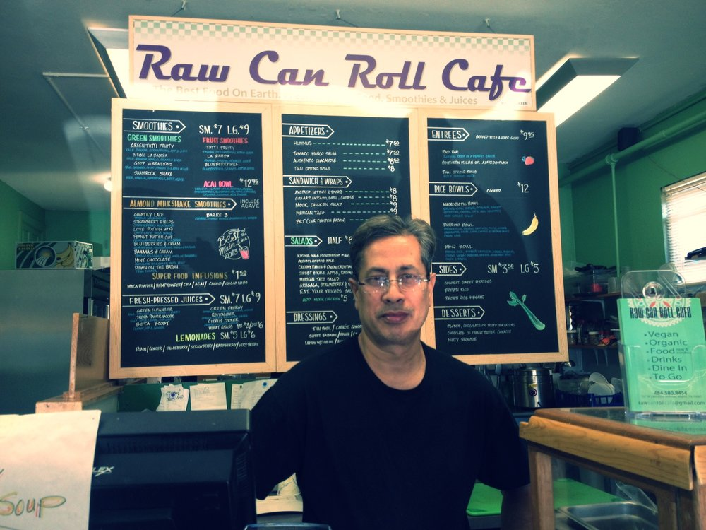 Badruzzaman Alamgir, the owner of raw can roll cafe