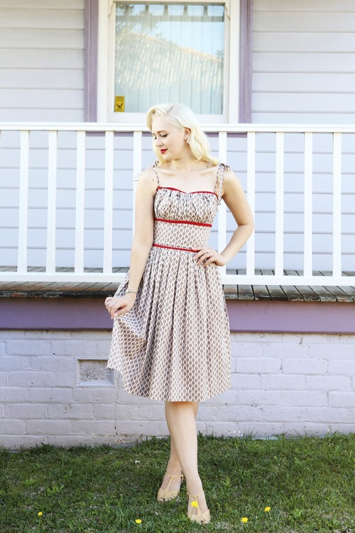 Montgomery Dress $99.00 AT vintagedancer.com