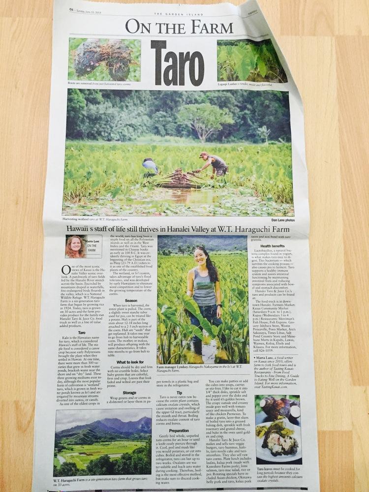 Garden Island - Hawaii\'s staff of life still thrives in Hanalei ...