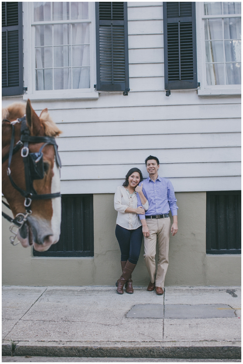 Engagement Session in downtown Charleston, SC