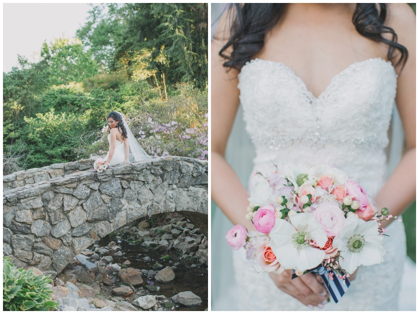 Bridal Session at Rock Quarry Garden in Greenville, SC