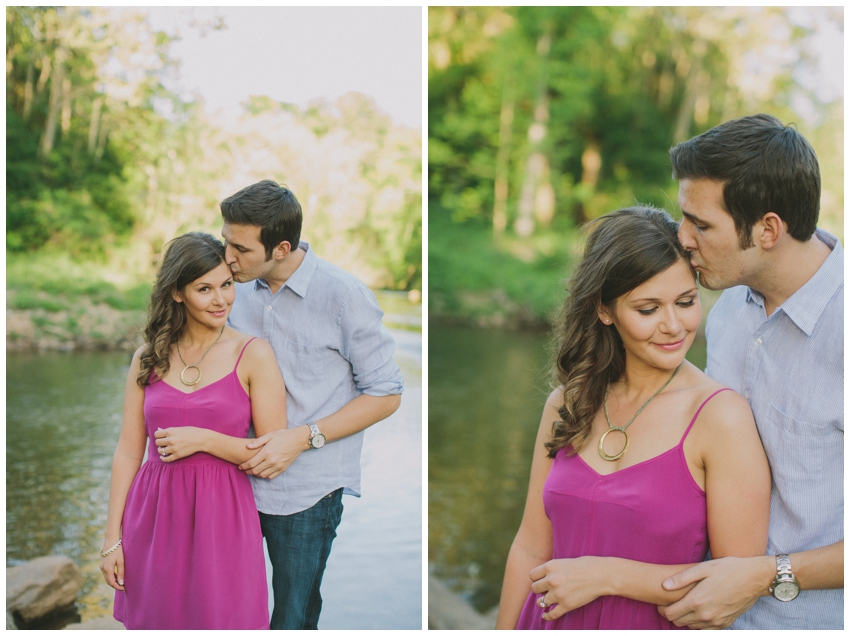 Engagement Session at Fall Park in downtown Greenville, SC