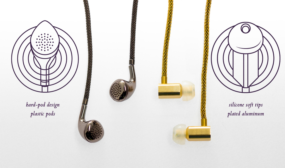Tinsel- The Dipper Audio Necklace Earbuds, Old v. New, tinsel.me