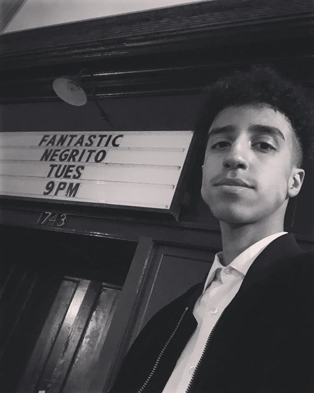 About light the stage up with @fantasticnegrito tonight at The New Parish 🔥🎷 #saxophone #oakland #blessed #pleasedontbedead #fantasticnegrito #thejammingnachos