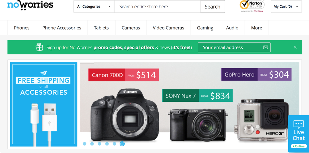 Electronics E-commerce Website