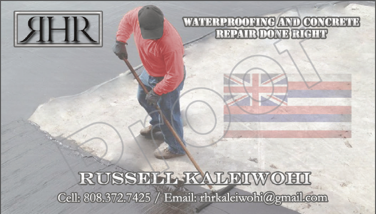 Waterproofing Contractor Business Card