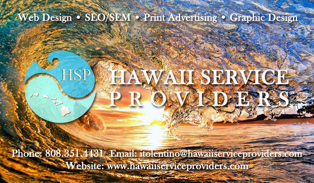 Hawaii Service Provider Business Card (Front)