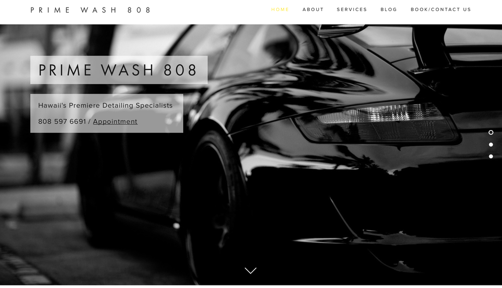Prime Wash 808 - Auto Wash and Detailing  Website Design