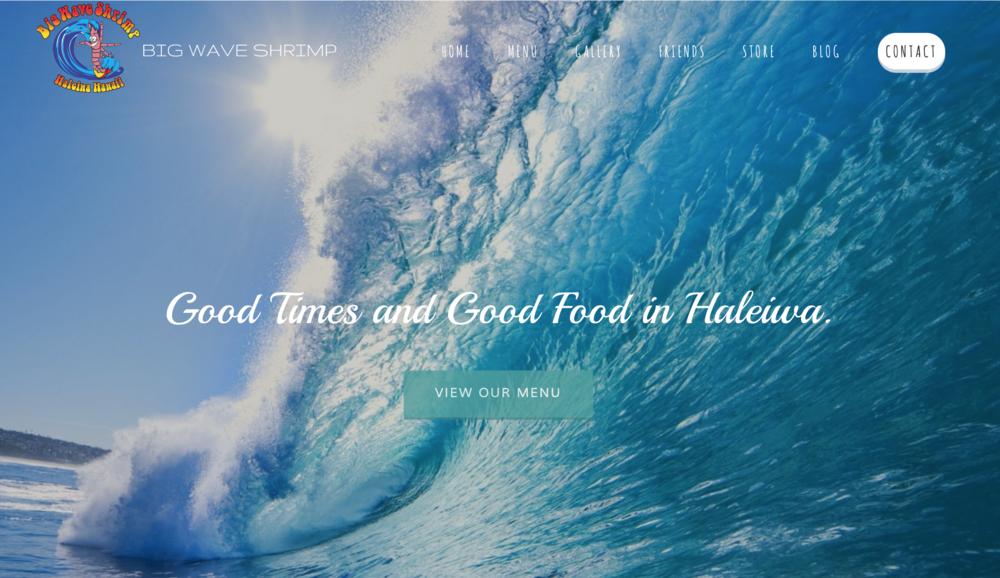 Big Wave Shrimp  Website Design