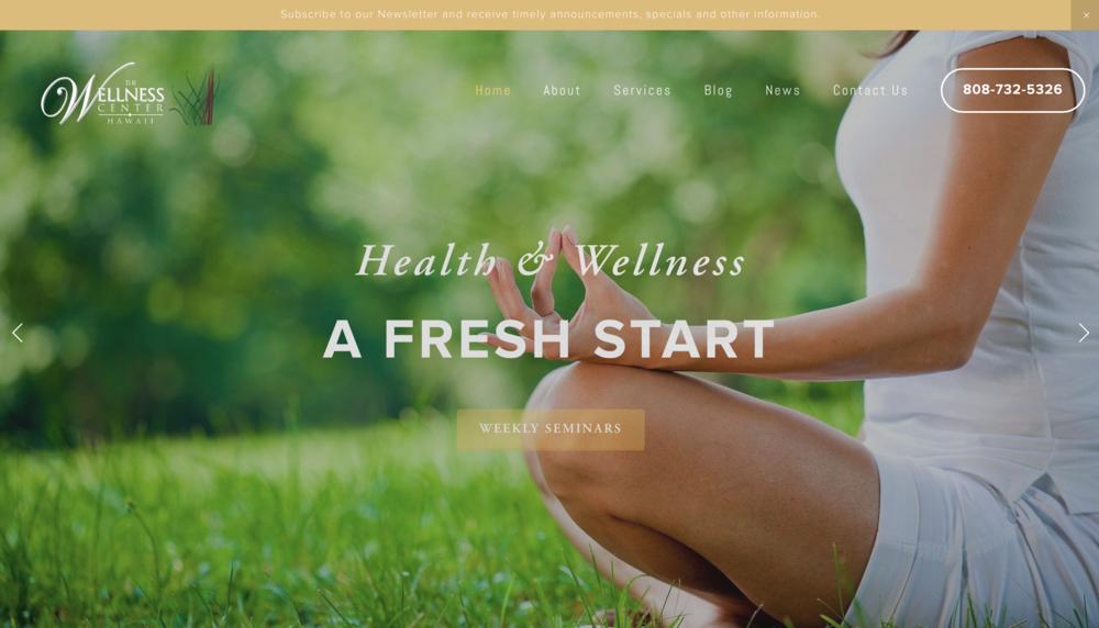 The Wellness CenterHawaii - Health & Wellness  Website Design