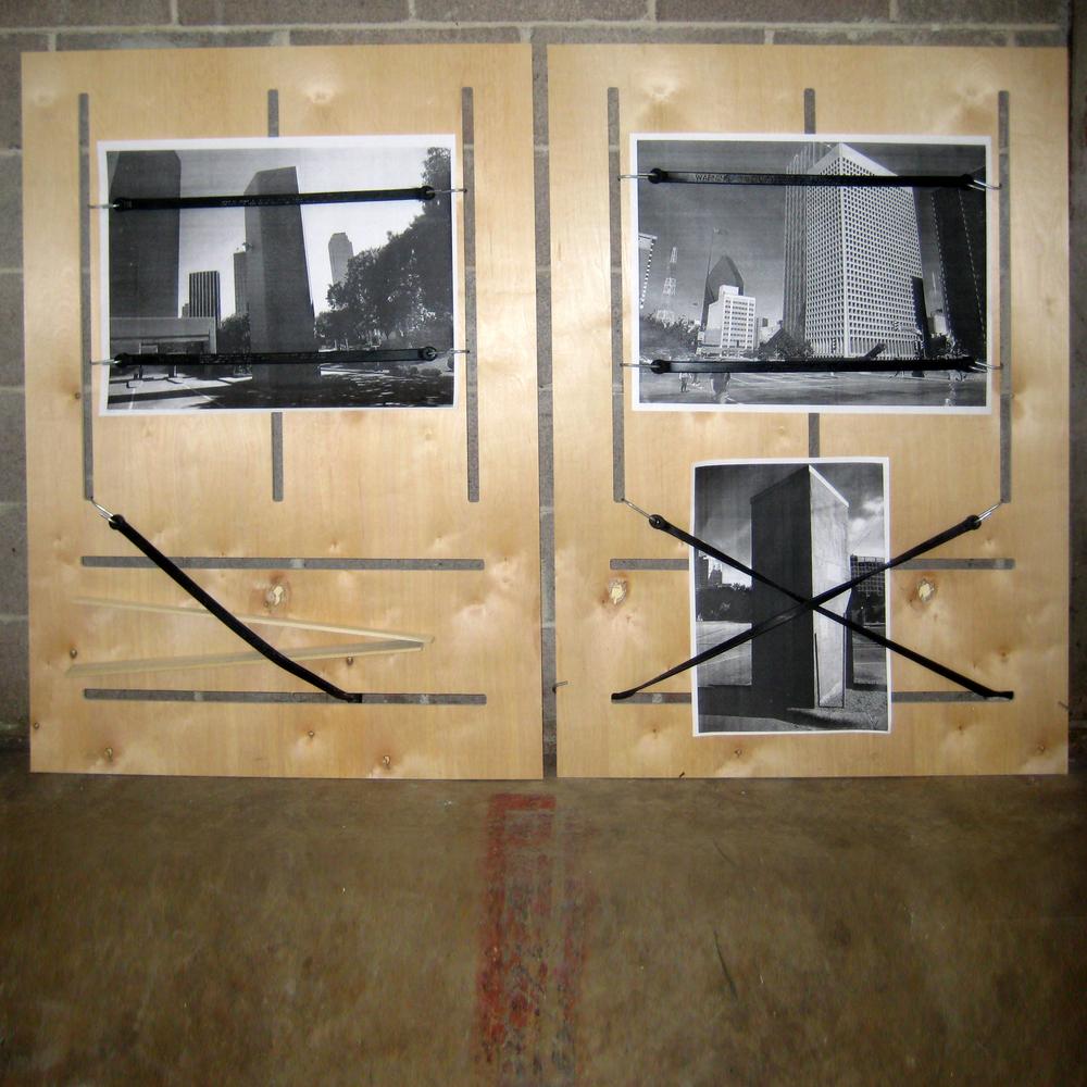 Bridges and Constructions (2010)  Dallas Contemporary. Dallas, Texas  Plywood, Mixed Media. 121 x 88cm