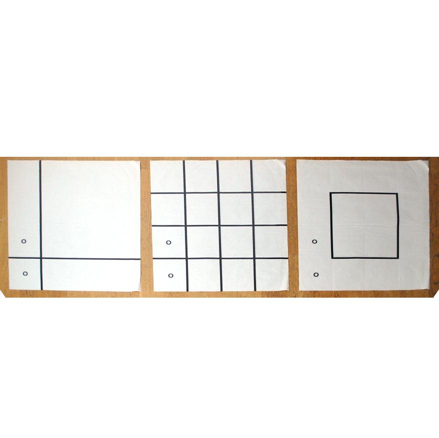 0/0 series (1990)  Transparent Paper  105 x 75 cm