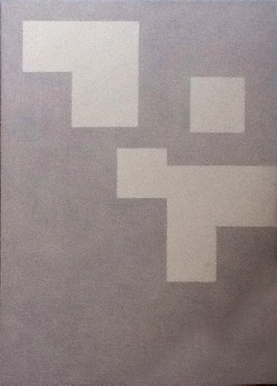 4 Forms On Canvas (1989)  Pigment On Canvas Mounted To Wood Panel 75x 45 cm