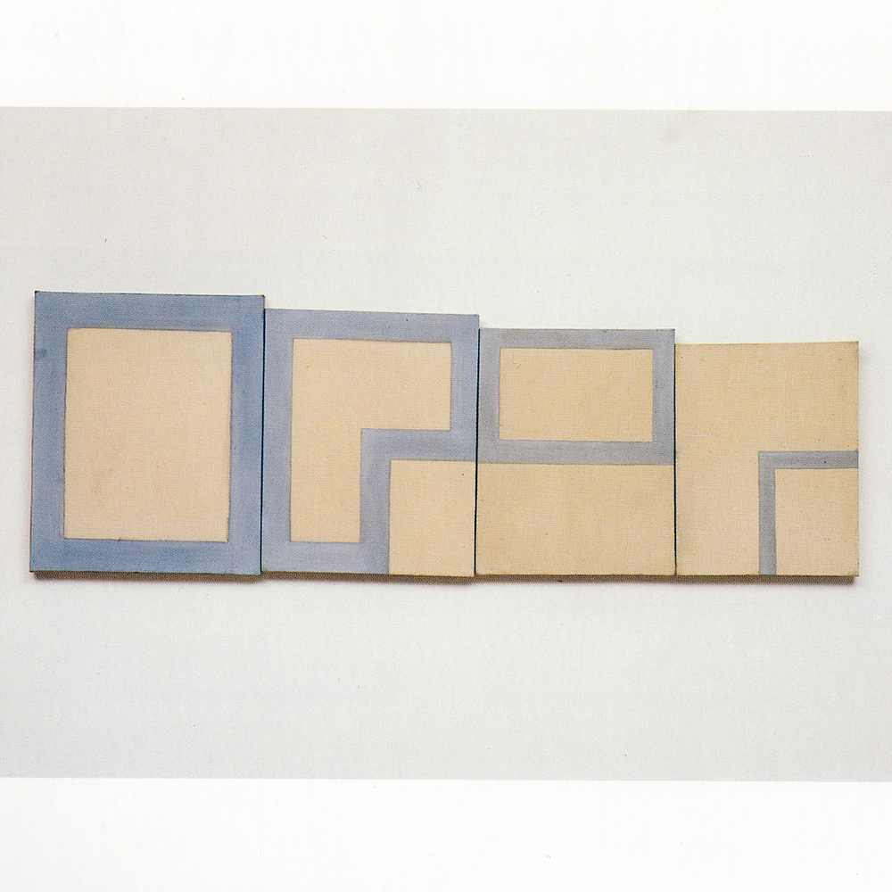 4 Parts (1986)  Paint On Canvas 56 x 45 cm, 52.5 x 42.5 cm, 49 x40 cm, 46 x 36 cm