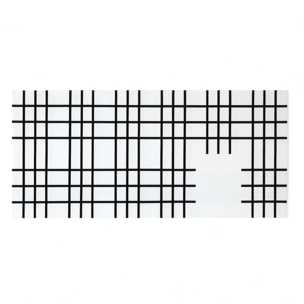 105/ 225 1/4- 3 / 3 (1993) Drawing Foil, Black Adhesive Stripes 105 x 225 cm
