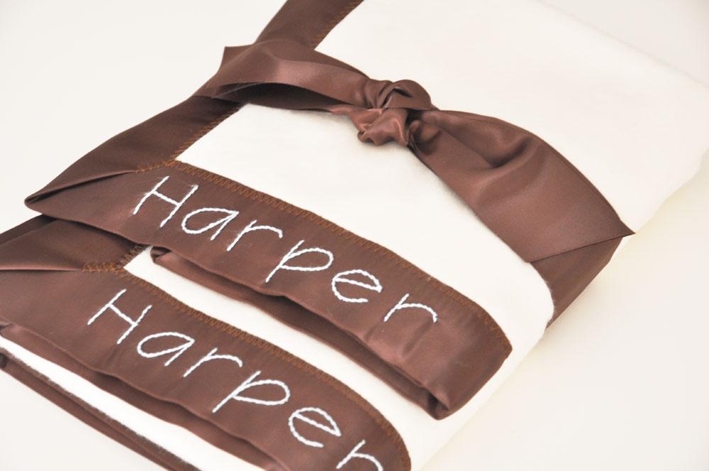 Chocolate Brown Blanket Gift Set