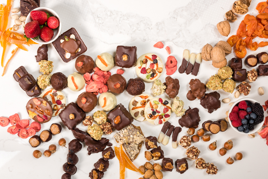 Assorted Chocolates, Shortbreads & Fancy Fruits  - $60.00 - $150.00