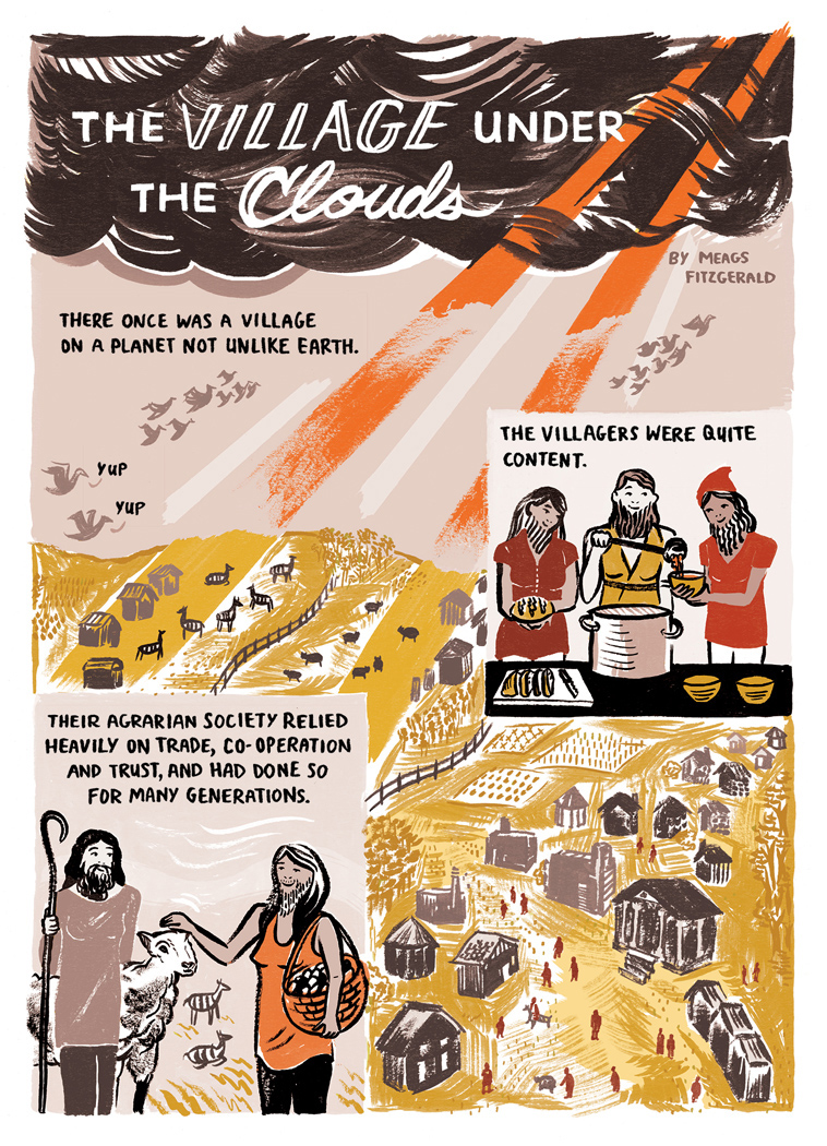 The Village Under the Clouds, Pg 1