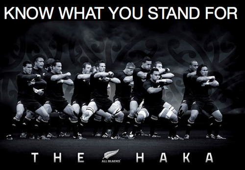 The Haka - a powerful symbol of The All Blacks brand.