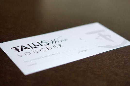 Tallis Wine Gift Voucher blog