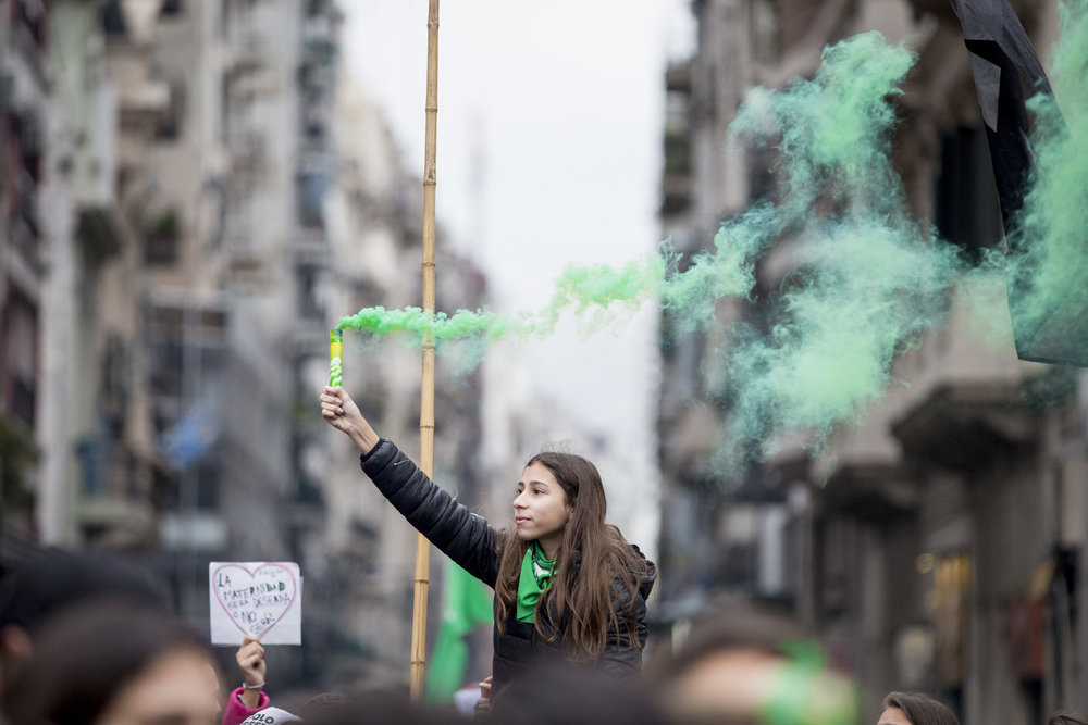 Hundreds of thousands of women, young and old, took to the streets to show their support for the abortion bill on Aug. 8, 2018 – known as #8A – in Buenos Aires, Argentina.