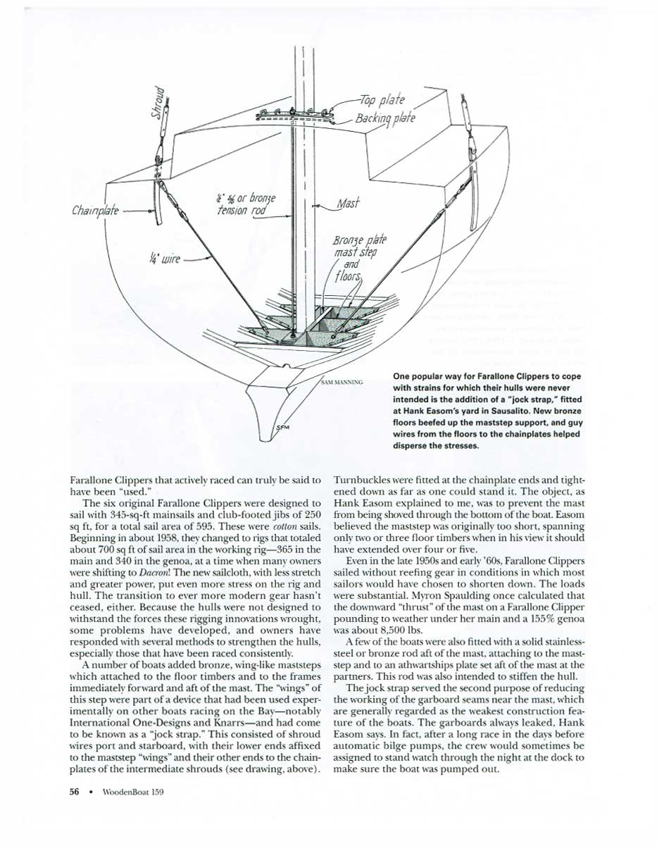 Overview Farallone Clippers Sailboat Mast Wiring Diagram Woodenboat Faralloneclippers56