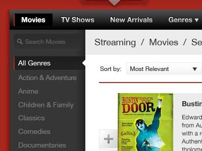 Netflix Browse UI