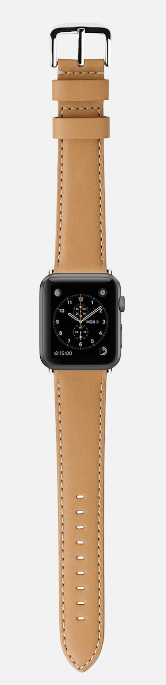 Apple Watch + Shinola Natural Leather Strap