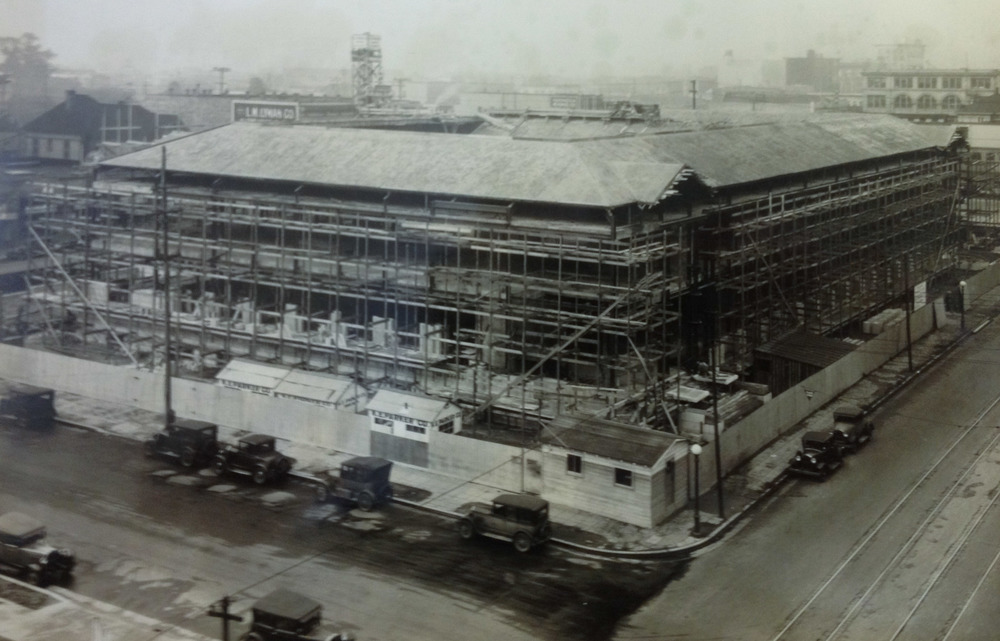 The Civic Center Post Office under construction in 1930.