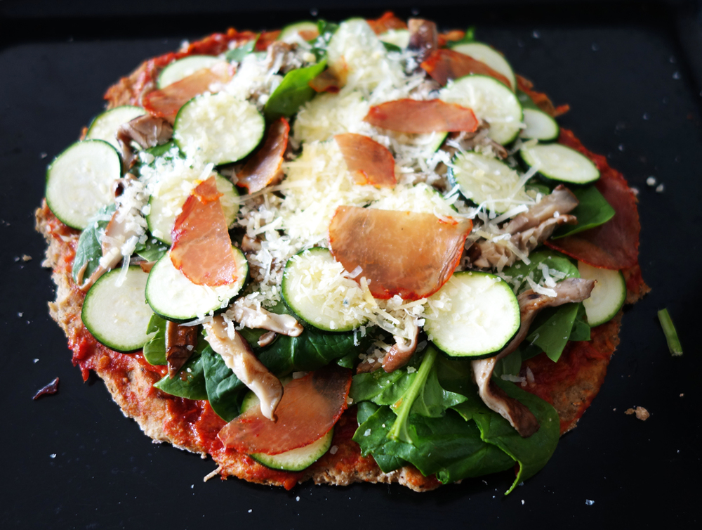 Tasty Cauliflower Pizza Crust Recipe | The Spice Girl Blog