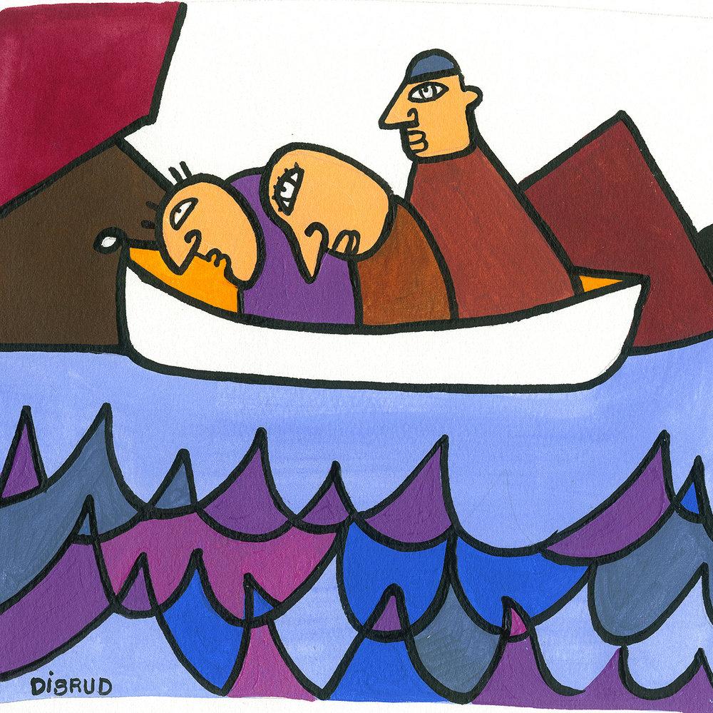 ' three in a canoe '