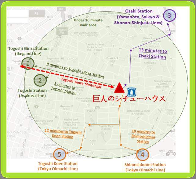 Togoshi Ginza Shop Location