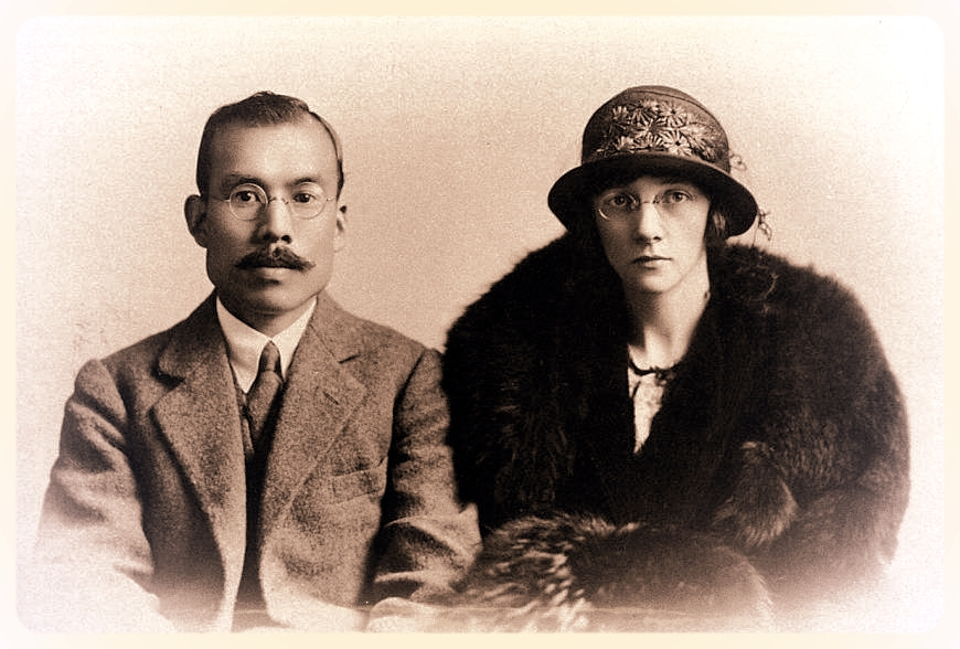 Portrait ofNikka Whisky founder Masataka Taketsuru and his wife, Rita. Their lives are currently the subject of a new NHK drama -NIKKA WHISKY/ASAHI BREWERIES