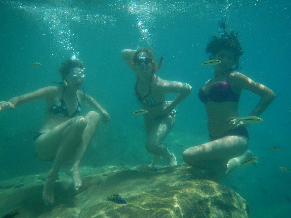 Strike a pose with our underwater camera