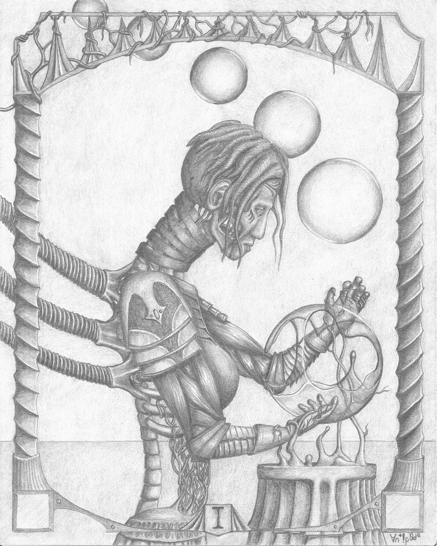 """I, graphite on paper, 8x10"""", 2015"""