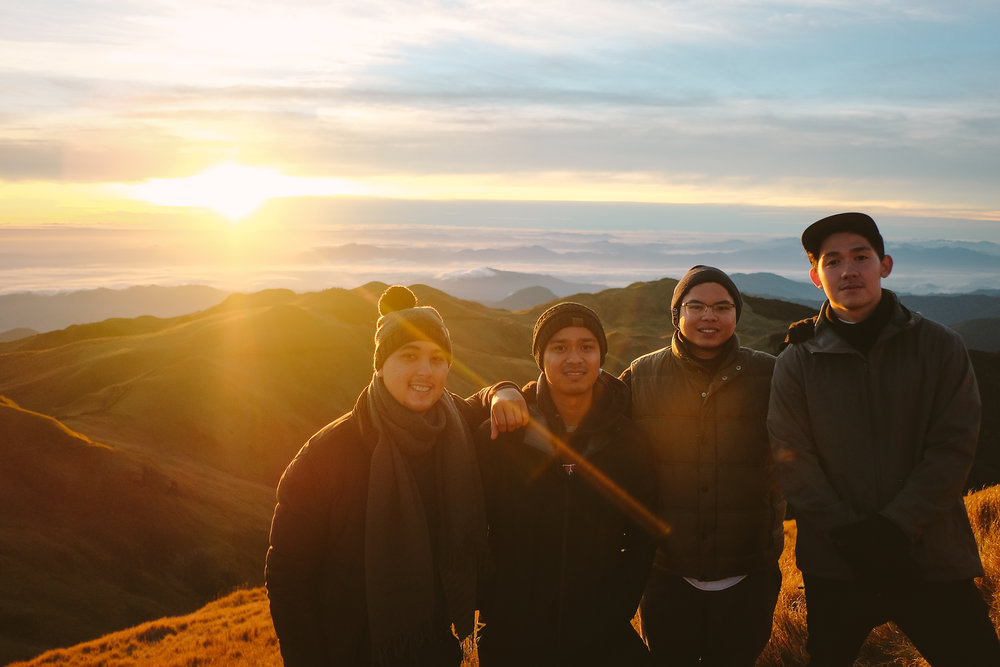 The boys Mount Pulag